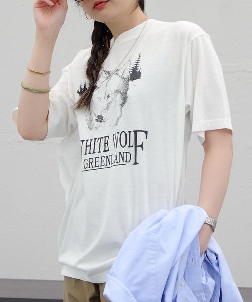 THE SHINZONE/シンゾーン ホワイトウルフ TEE WHITE WOLF TEE