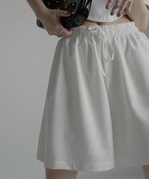 【chuclla】【2021/SS】Flare easy half pants chw1538ホワイト