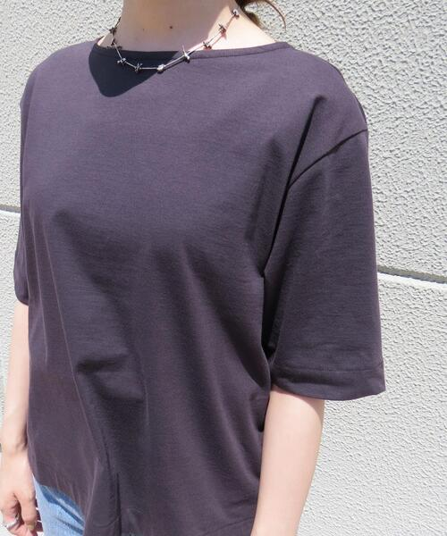 <A DAY IN THE LIFE>ベーシック ボートネック5SL Tシャツ