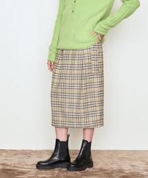 <AEWEN MATOPH(イウエン マトフ)>ハウンドトゥース チェック スカート