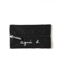 agnes b.(アニエスベー)のGL11 E BAG ロゴ刺繍ペンケース(ステーショナリー)