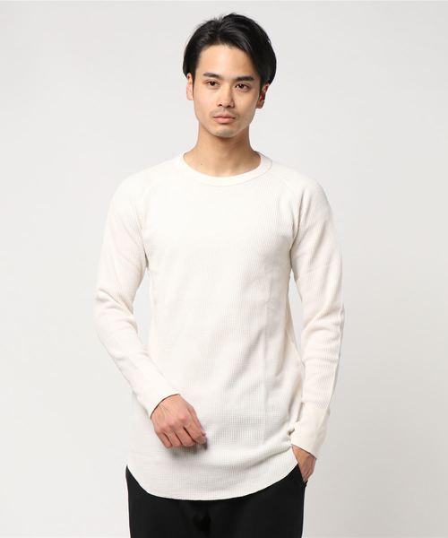 JEMORGAN / サーマル長袖ラグランスリーブTシャツ ロング丈クルー