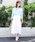 MODE ROBE(モードローブ)の「コットン切替ギャザーフレアスカート(スカート)」 ホワイト