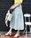 MODE ROBE(モードローブ)の「コットン切替ギャザーフレアスカート(スカート)」 ライトブルー