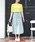 MODE ROBE(モードローブ)の「コットン切替ギャザーフレアスカート(スカート)」 詳細画像