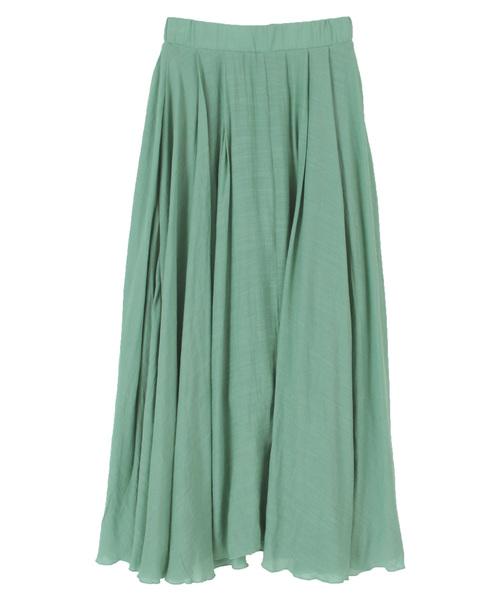 titivate(ティティベイト)の「スラブボリュームマキシスカート(スカート)」|ミント