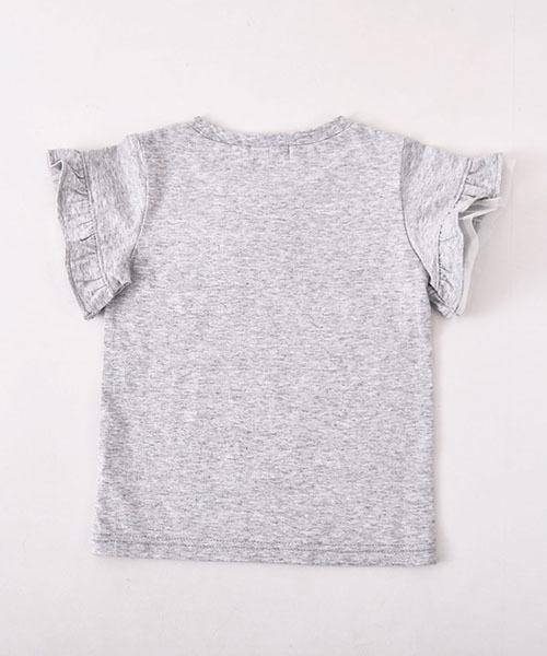 Noeil aim BeBe/【カタログ掲載】天竺袖フリルTシャツ