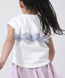 【coen キッズ/ジュニア】バックスカラップ刺繍ドルマンTシャツ