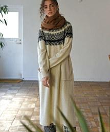 unfil(アンフィル)の【unfil】ジーロンラム ジャガードニットドレス WOMEN(ワンピース)