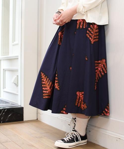 LE GLAZIK / ルグラジック プリントスカート PRINT SKIRT #J-5076