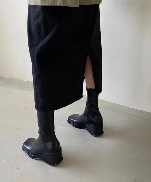 【chuclla】【2021/AW】Wave volume sole boots chs21a016