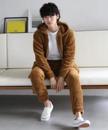 【WEB限定】(ユニセックス)ボアフリースセットアップ(パーカー&パンツ)