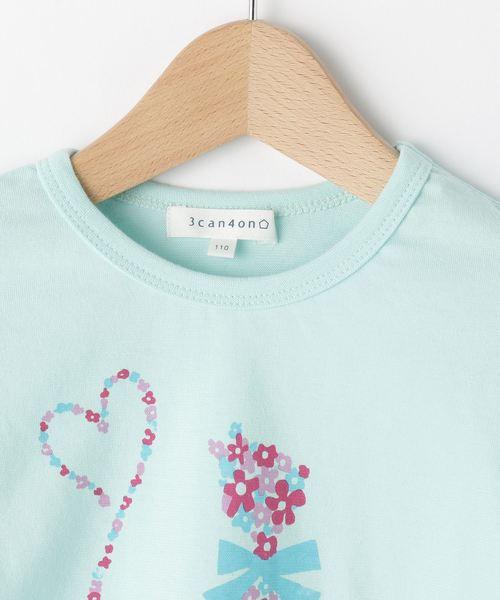 フラワーキャットプリント長袖Tシャツ