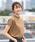 coen(コーエン)の「【WEB限定カラーに新色ブラウン登場】USAコットンハイネックTシャツ(Tシャツ/カットソー)」|ダークブラウン