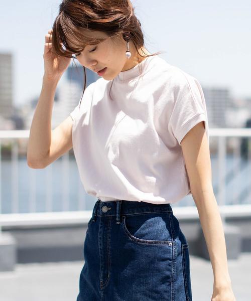 【WEB限定カラーあり・新色登場】USAコットンハイネックTシャツ