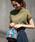 coen(コーエン)の「【WEB限定カラーに新色ブラウン登場】USAコットンハイネックTシャツ(Tシャツ/カットソー)」|カーキ
