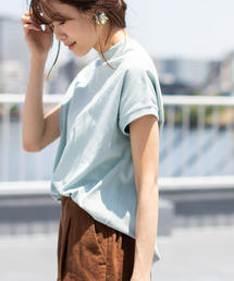 coen(コーエン)の【WEB限定カラーあり・新色登場】USAコットンハイネックTシャツ(Tシャツ/カットソー)