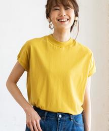 coen(コーエン)の【WEB限定カラーに新色ブラウン登場】USAコットンハイネックTシャツ(Tシャツ/カットソー)