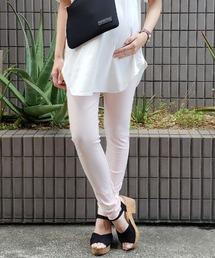 SweetMommy(授乳服&マタニティ)(スウィートマミー)の美脚ストレッチカラーデニムパンツ(マタニティウェア)