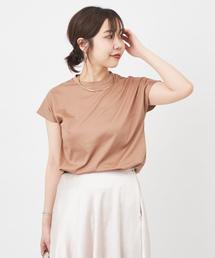 CAPRICIEUX LE'MAGE(カプリシューレマージュ)の汗ジミ防止Tシャツ(Tシャツ/カットソー)