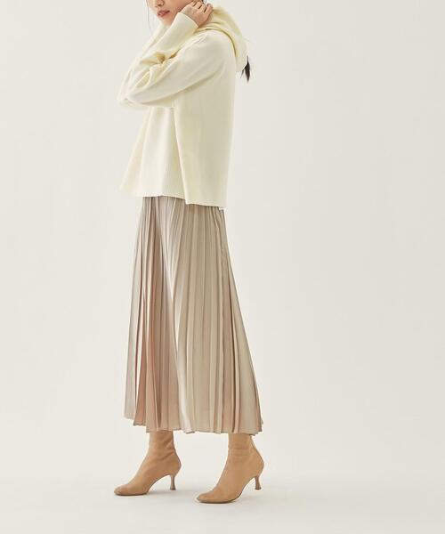 【EMMEL REFINES】【手洗可能】EM HW オヤコプリーツ ロングスカート / プリーツスカート