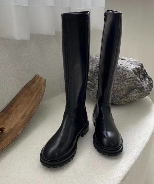 【chuclla】【2021/AW】Track sole long boots chs21a018