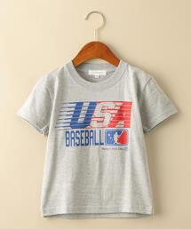 ★【キッズ】〔別注〕TAMANIWA USA Tシャツ