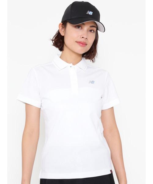 New Balance Golf(ニューバランスゴルフ)の「【new balance golf】スリーヴ ポロシャツ(ポロシャツ)」|ホワイト