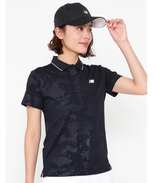 New Balance Golf(ニューバランスゴルフ)の「【new balance golf】スリーヴ ポロシャツ(ポロシャツ)」|ブラック