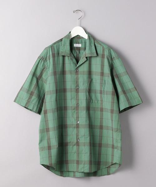 <Salvatore Piccolo (サルヴァトーレ・ピッコロ) > オープンカラー チェックシャツ