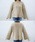 select MOCA(セレクトモカ)の「立体感のあるブークレ素材◆ボックスシルエットフレアスリーブサイドスリットラメニット(ニット/セーター)」 詳細画像