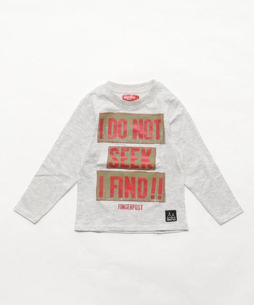 MOVENPICK / モーベンピック メッセージタグプリント長袖Tシャツ