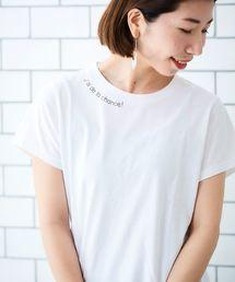 le.coeur blanc(ルクールブラン)のレタリングプリントTシャツ(Tシャツ/カットソー)