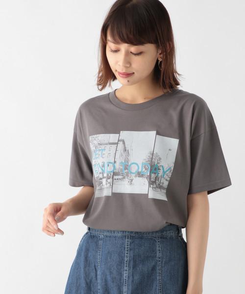 studio CLIP(スタディオクリップ)の「フォトプリントTシャツ(Tシャツ/カットソー)」|スモーク