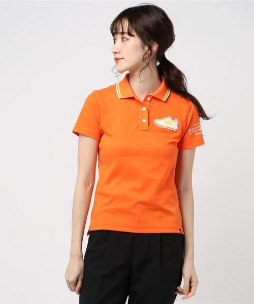 New Balance Golf(ニューバランスゴルフ)の「【new balance golf】スリーヴ ポロシャツ(ポロシャツ)」 オレンジ
