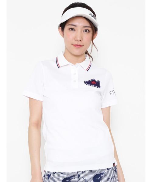 New Balance Golf(ニューバランスゴルフ)の「【new balance golf】スリーヴ ポロシャツ(ポロシャツ)」 ホワイト