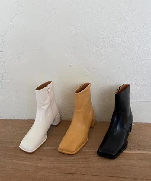 【chuclla】【2021/AW】Chunky heels ankle boots chs21a020