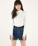 MOUSSY | Cotton/Rayon Rib tops(ニット・セーター)