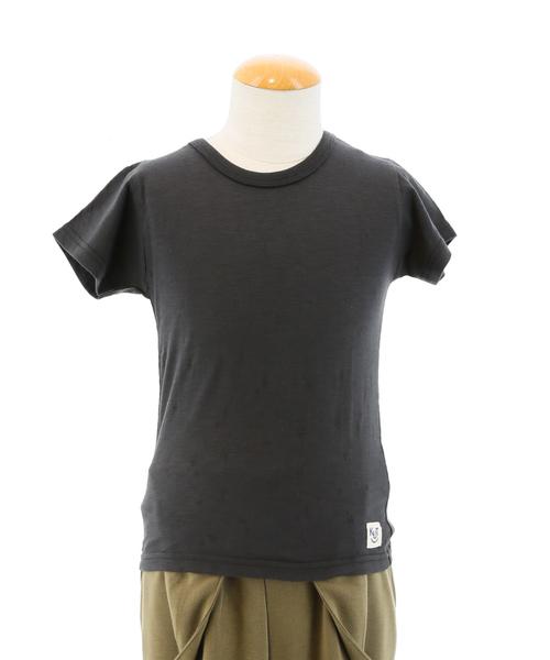 ファイン ファインズ/FAIN FAINS KUT KIDS オパール加工半袖Tシャツ・110~130cm(黒・グレー・イエロー)