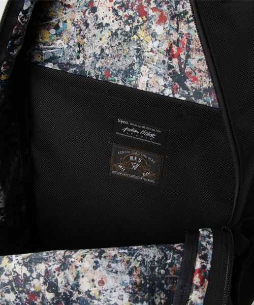 Sync.【JACKSON POLLOCK STUDIO】BACKPACK 'JACKSON POLLOCK STUDIO 2' made by RES