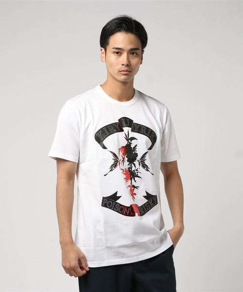kiryuyrik(キリュウキリュウ)の「T-SHIRT(Tシャツ/カットソー)」|ホワイト×レッド
