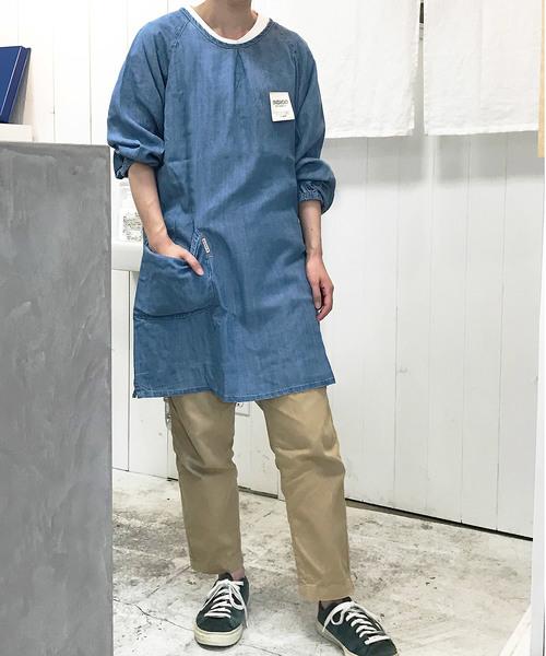 COCO WALK(ココウォーク)の「coco walk ココウォーク 割烹着9分袖(エプロン)」|ブルー