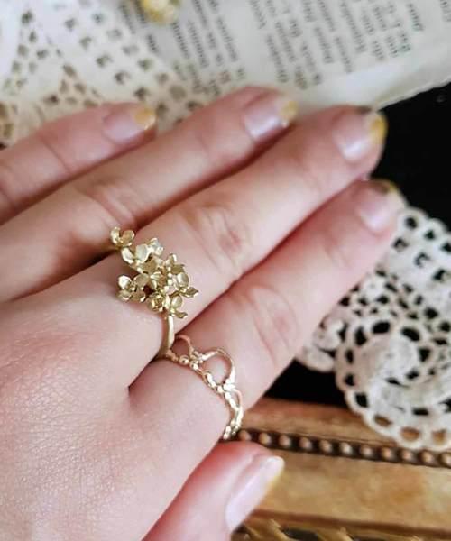 m.soeur(エムスール)の「金木犀のリング*(リング)」|ゴールド