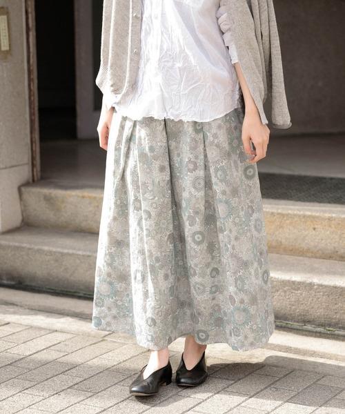 かぐれ(カグレ)の「リバティフランダースリネンスカート(スカート)」|オフホワイト