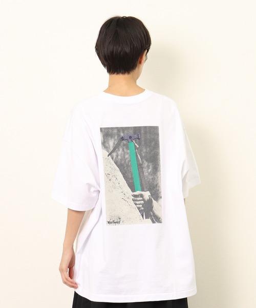 【 WILD THINGS / ワイルドシングス 】 PICKEL BACK PRINT TEE/ ピッケル フォトプリント Tシャツ WT21028K・・