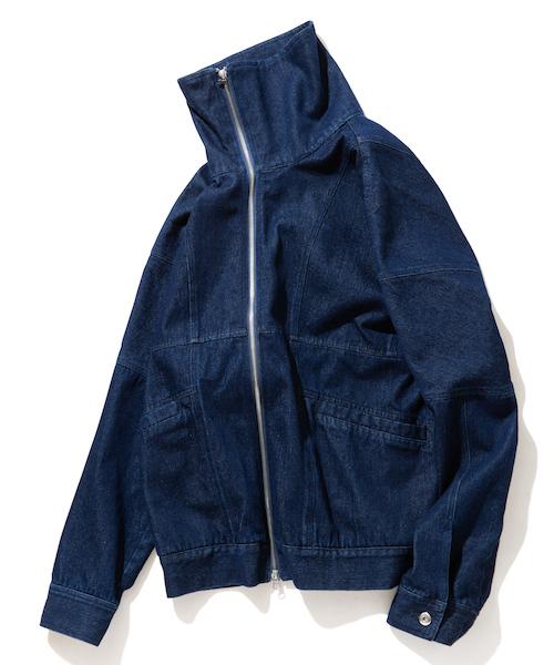 超激安 【セール/】rehacer デニム High-necked : High-necked Denim Jacket/ ハイネック デニム ジャケット(デニムジャケット)|rehacer(レアセル)のファッション通販, 上野アメ横 靴店 フットモンキー:64906f7c --- heimat-trachtenbote.de