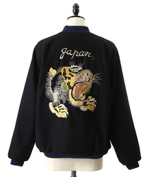 "GOLD(ゴールド)のGOLD / ゴールド:WOOL SOUVENIR JACKET ""Tiger""/""Eagle&dragon"":GL14211[MUS](スカジャン)"