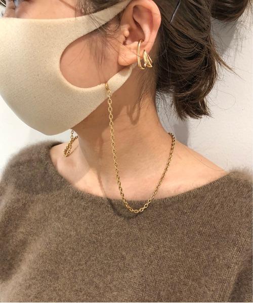 Omekashi(オメカシ)の「ゴールドマスクチェーンネックレス(ネックレス)」 ゴールド
