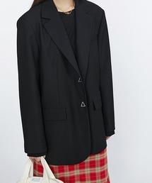 【Fano Studios】【2021SS】Oversized stitch tailored jacket FC21W057ブラック