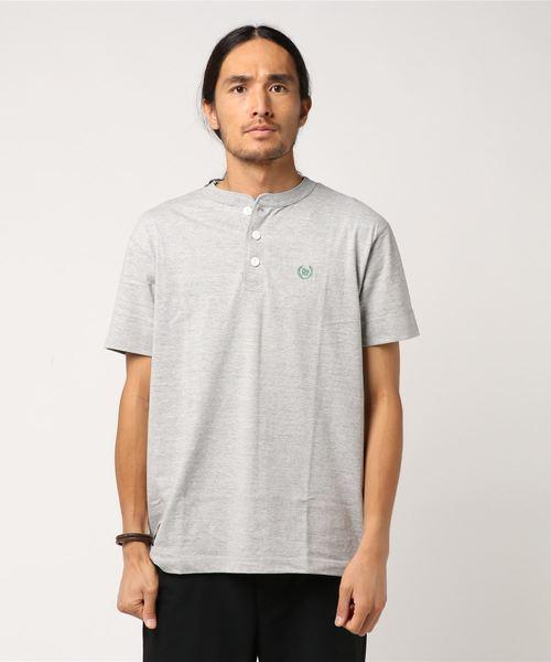 Laurel Henry ss Tee / Tシャツ ヘンリーネック 刺繍